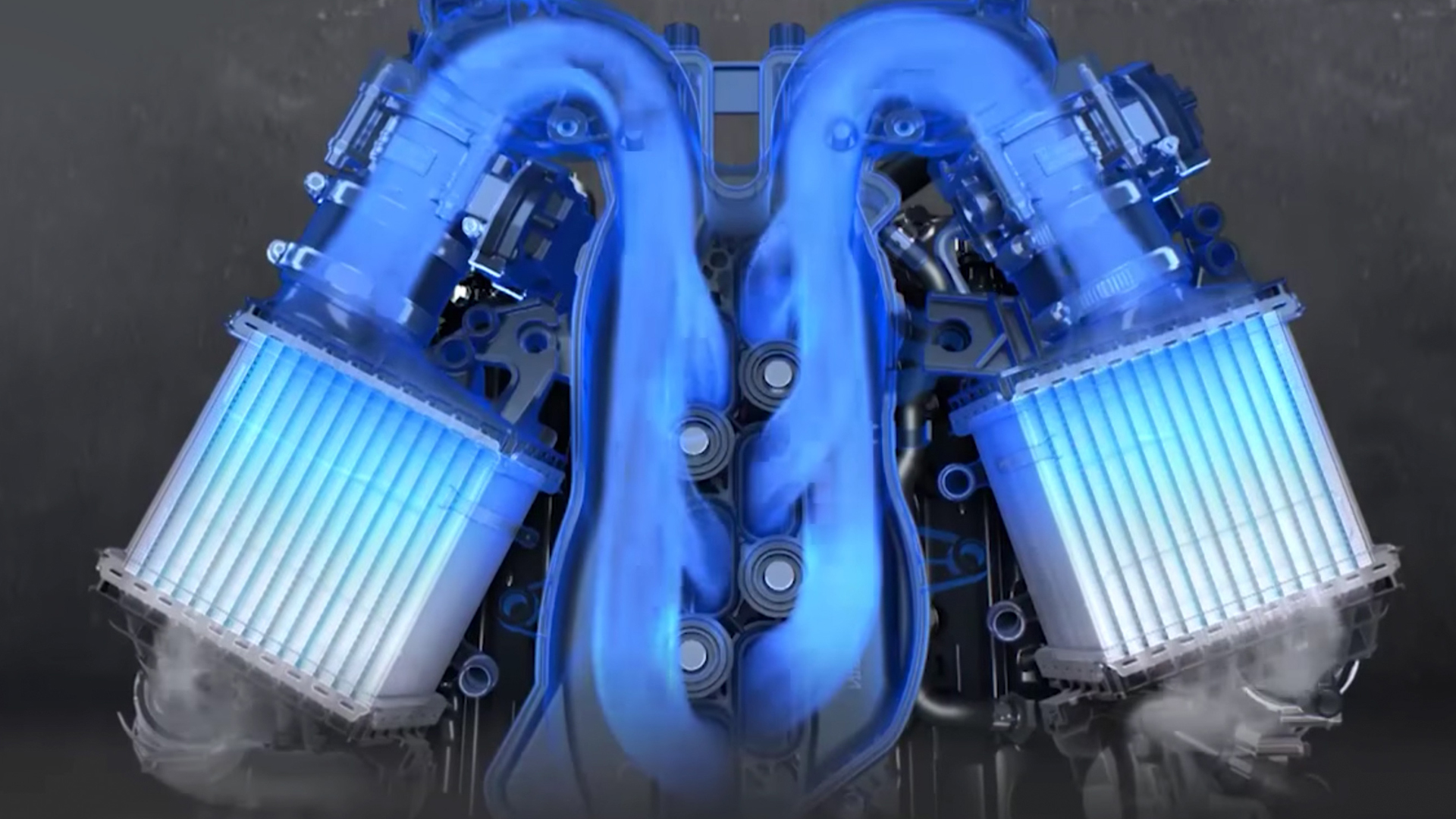 TWIN TURBO V6 ENGINE